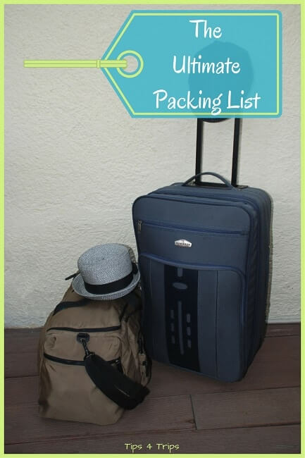 The ultimate travel packing checklist for you next holiday