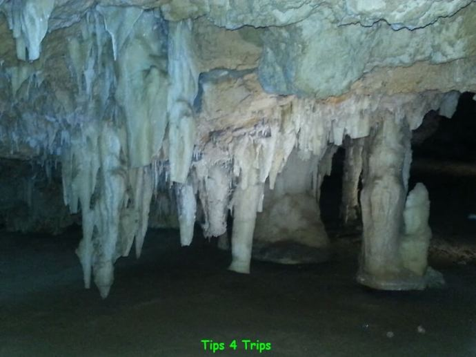 Learning about the water in Crystal Cave on a day trip to Yanchep National Park Perth, Western Australia