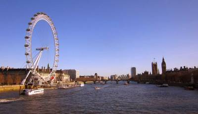 London Eye, Westminster and River Thames - LONDON, England