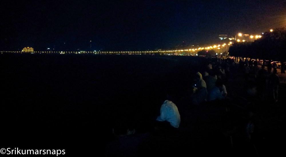 The beauty of Mumbai- Marine Drive at night