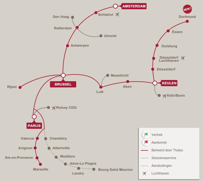 Routenetwerk Thalys