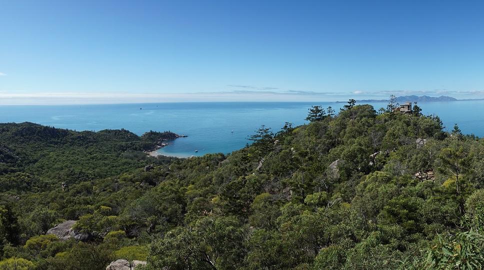 Uitzicht op Radical Bay