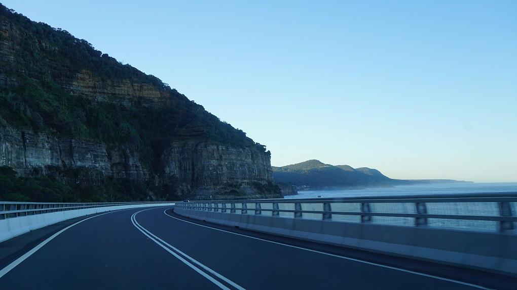 Sea Cliff Bridge op de Grand Pacific Drive