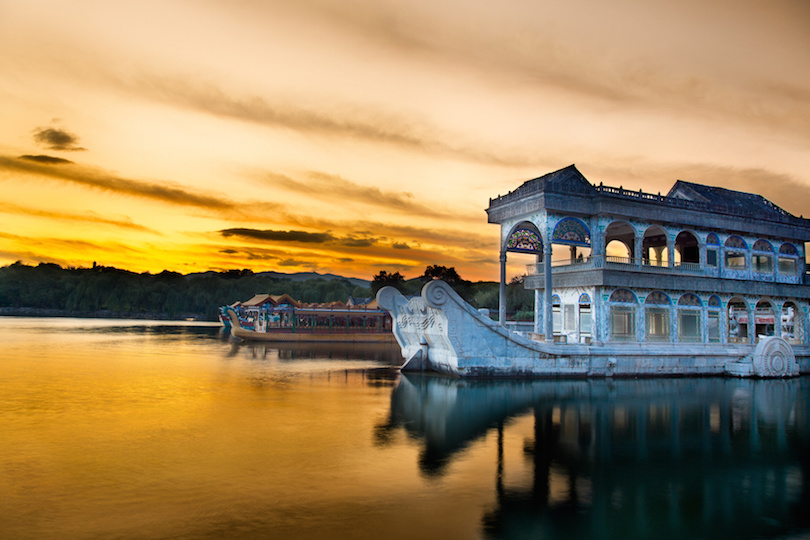 Marble boat. Summer Palace Beijing