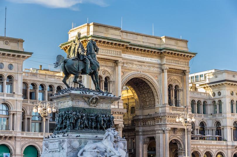 Vittorio Emanuele II Statue in Milan