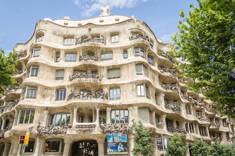 The Casa Mila, better known as La Pedrera, in Barcelona