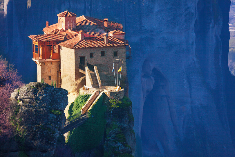 Close view on Rosanou monastery, Meteora