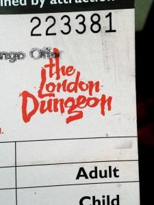 London Dungeon Ticket