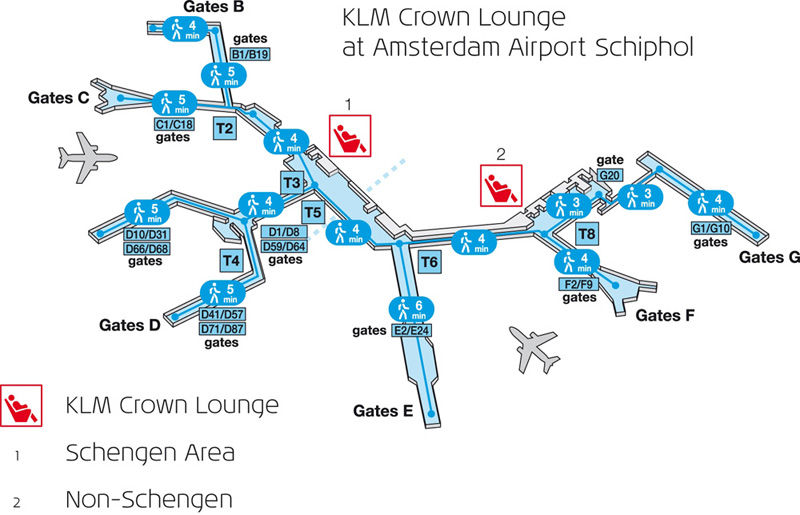 KLM Lounges at Schiphol (Image Source: Royal Dutch Airlines / klm.com)