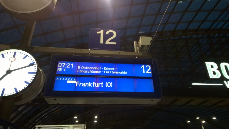 With only seven hours delay, I boarded my last train