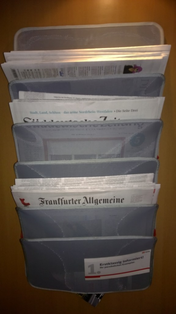 Several different newspapers are complimentary