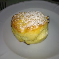 The scones were really good