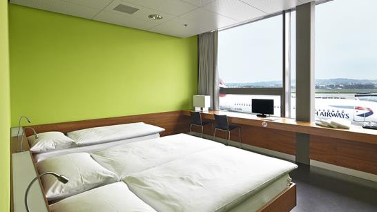 The Transit Hotel offers clean and convenient rooms (Image Source: Zurich Airport / zurich-airport.com)