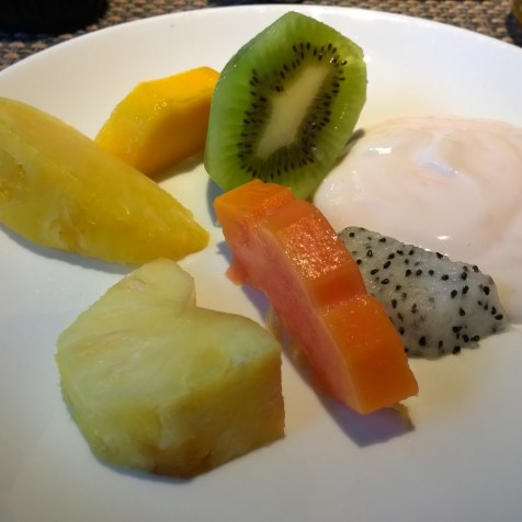 Selection of fruits at breakfast