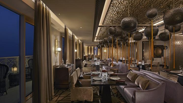 Marjan Restaurant offers a more private atmosphere (Image Source: Waldorf Astoria Ras Al Khaimah / hilton.com)