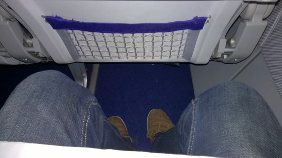 The seat pitch is average at Lufthansa