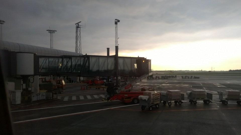 Sunset at Copenhagen Airport