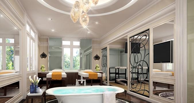 Bathroom of the Presidential Suite (Image Source: Hilton Nay Pyi Taw / hilton.com)