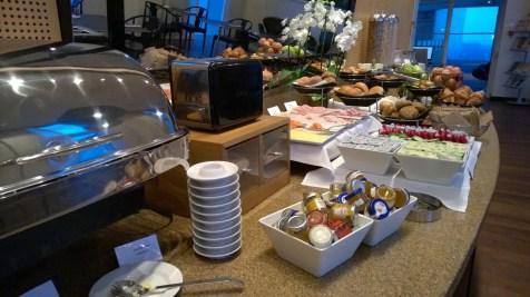 Breakfast buffet at the Hilton Copenhagen Airport