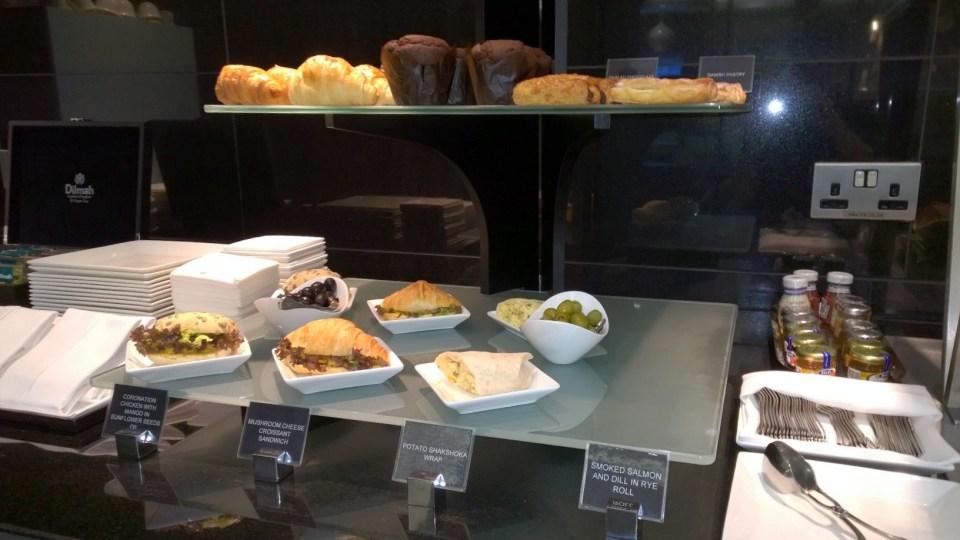 Choice of sweet and savoury snacks