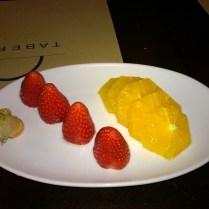 Some fruits as a dessert