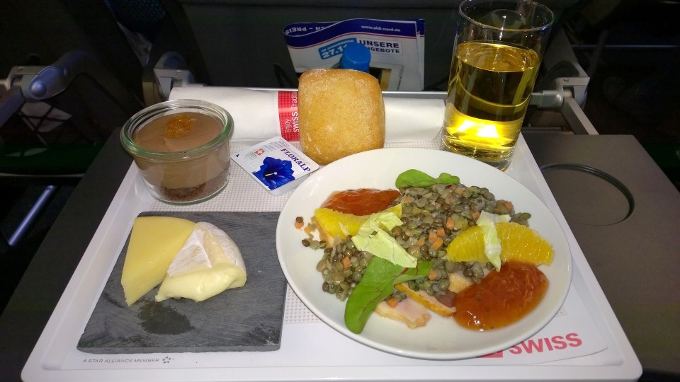 Lunch in Swiss Business Class
