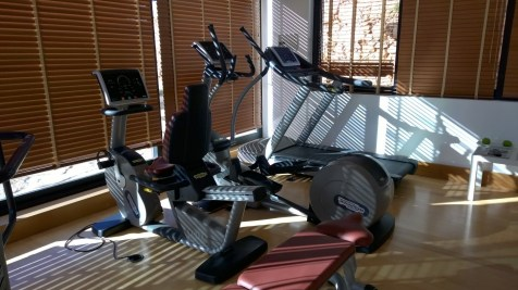 Machines in the gym of the Pousada de Cascais