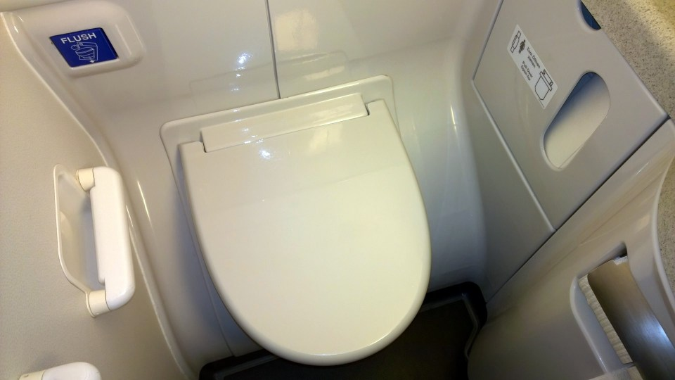 The lavatories are clean and modern