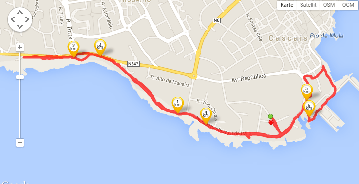 My jogging route along the Atlantic