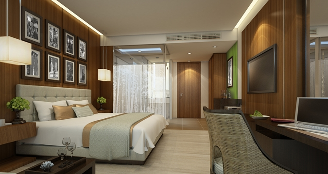 Even the smallest rooms have a great design (Image Source: Hilton Nay Pyi Taw / hilton.com)