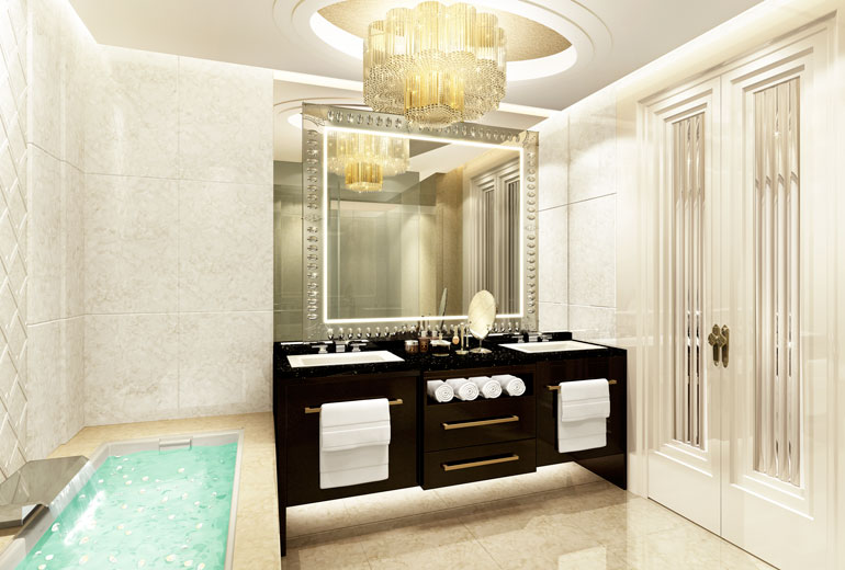 Marble bathrooms can be found in every room (Image Source: St. Regis Changdu / starwoodhotels.com)