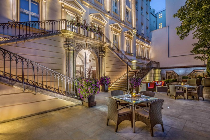 The amazing courtyard of The Mark in Prague (Image Source: The Leading Hotels of the World / lhw.com)