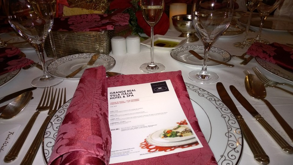 Cover and menu of our Christmas Dinner