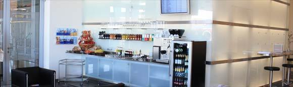 The Noris Sky Lounge is the only independent lounge at Nuremberg Airport