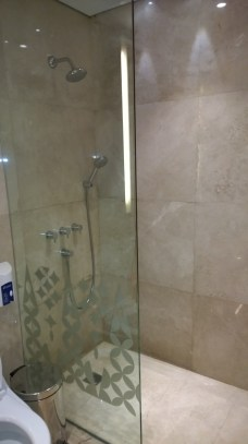 Shower facilities are available in the restrooms