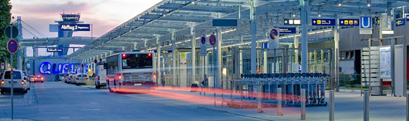 Transportation at the Nuremberg Airport is easy (Image Source: Nuremberg Airport / airport-nuernberg.de)