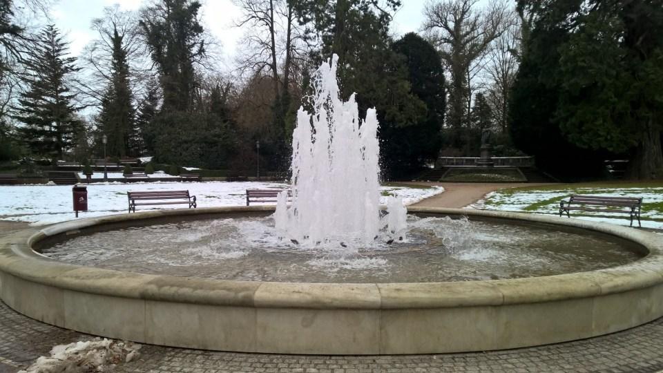 What a start: A beautiful fountain!
