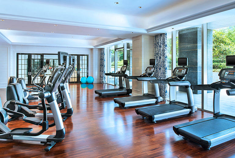 The gym is large enough for a hotel with 205 rooms (Image Source: The Azure Qiantang / starwoodhotels.com)