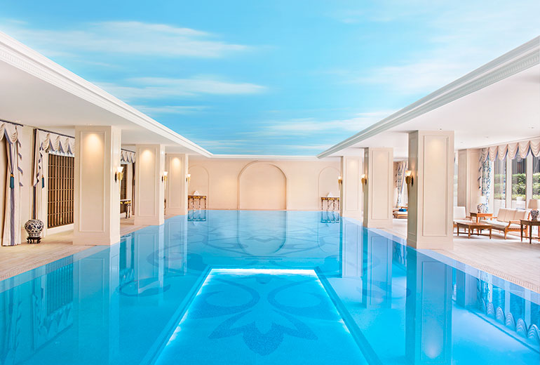 Large heated indoor pool (Image Source: The Azure Qiantang / starwoodhotels.com)