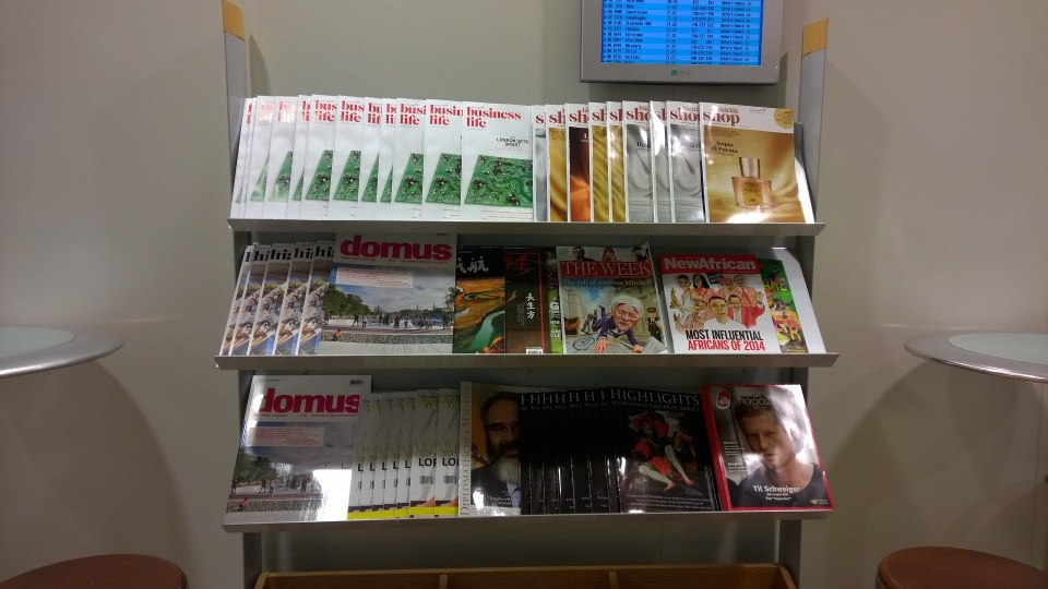The magazines available are mainly board magazines