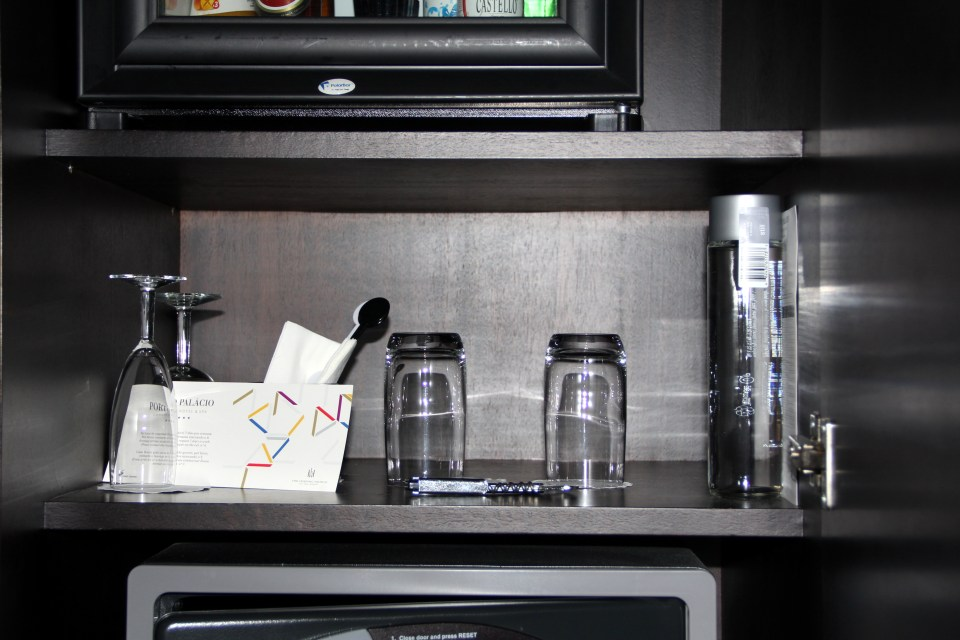 Real five stars: The minibar was well equipped as well