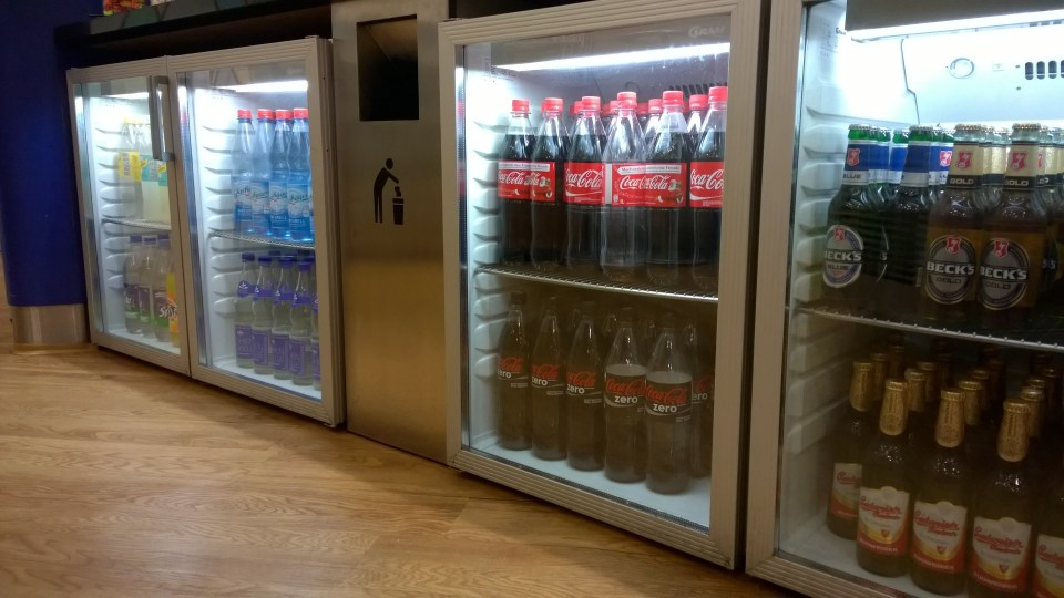 There are dozens of softdrinks available