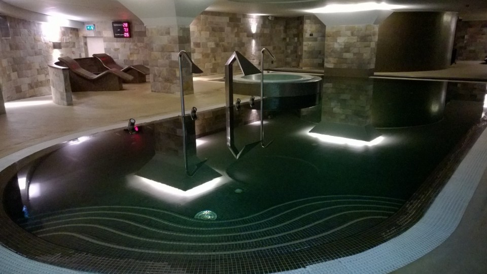 A nice place to relax: The luxurious Spa area