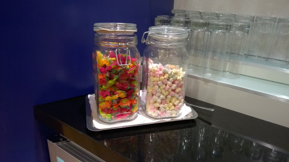 You may enjoy some candy in the Galleries Lounge Berlin