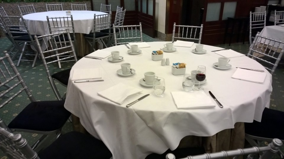 Seating in the breakfast restaurant