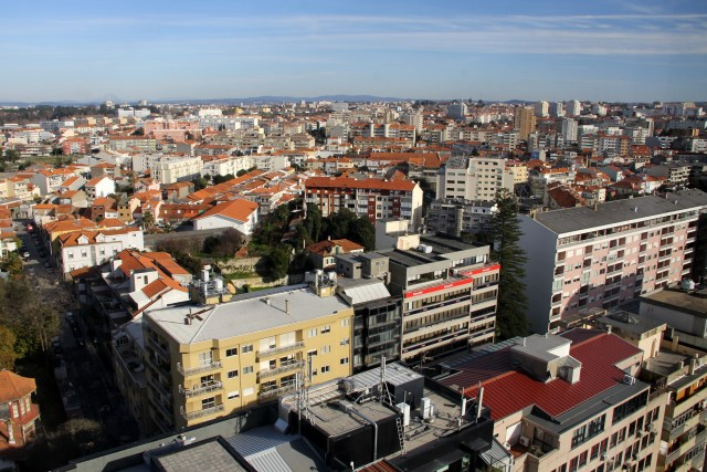 View from high above: Porto Palácio is the tallest building in the area