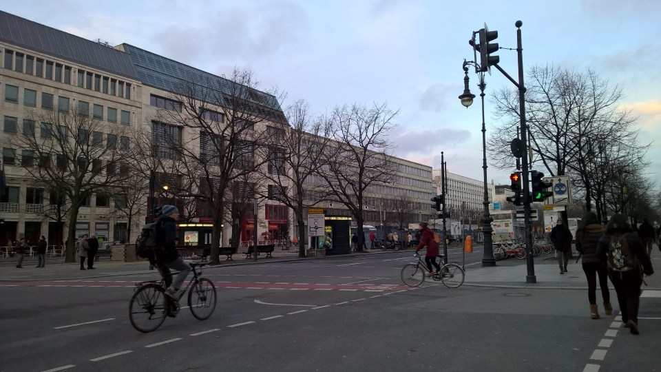 The first views of the Boulevard Unter den Linden