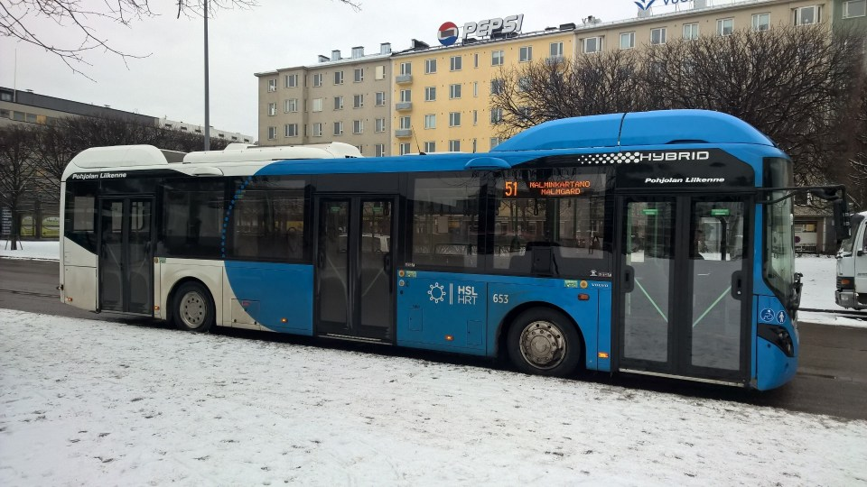 There are dozens of different bus lines in Helsinki