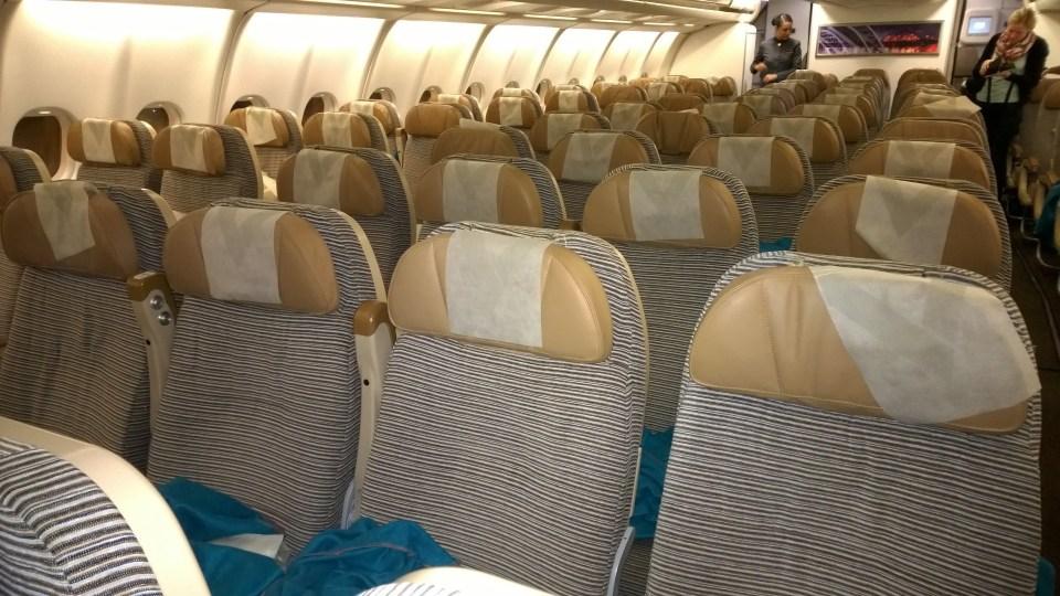 Arragenement in the Etihad Airways A330-300