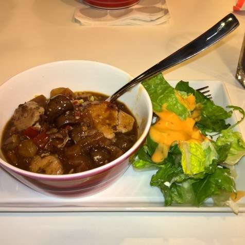 Goulash with salad